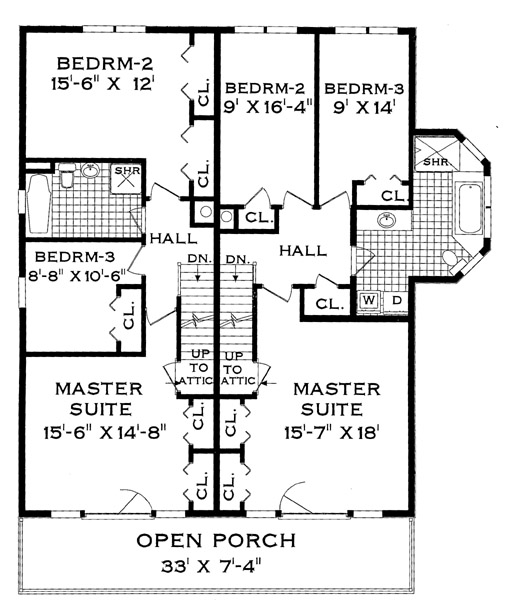 Three bedroom duplex home design for Two family floor plans