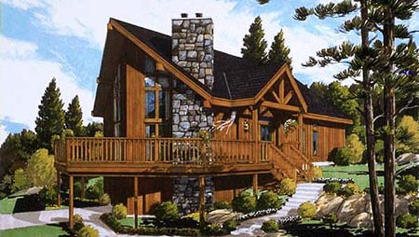 Chalet for today 5623 the house designers for Chalet style home kits