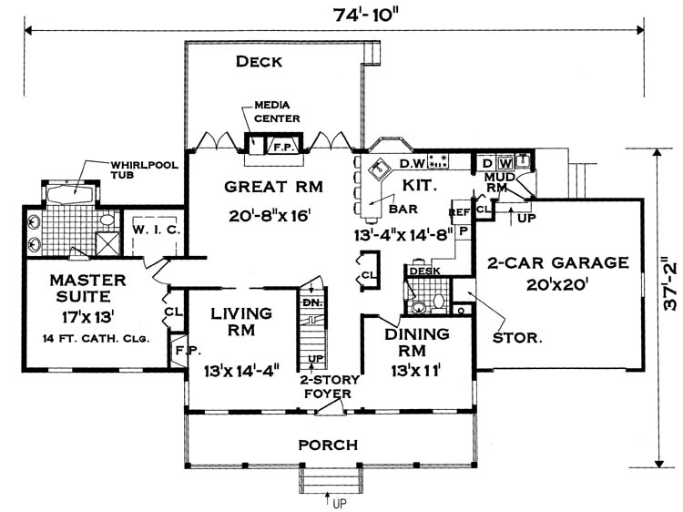 Perfect for a large family 7004 5 bedrooms and 2 baths for Family home designs