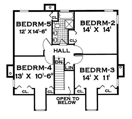 Perfect for a large family 7004 5 bedrooms and 2 baths for Big family house floor plans