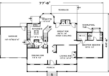 first floor image of Home sweet home House Plan