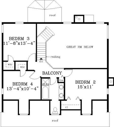 second floor image of Home sweet home House Plan