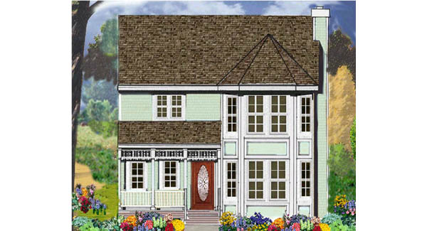 Narrow Lot Victorian 5671 3 Bedrooms And 2 Baths The House Designers