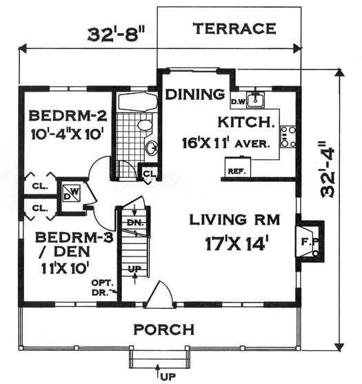 compact design 7134 - 4 bedrooms and 2.5 baths | the house designers