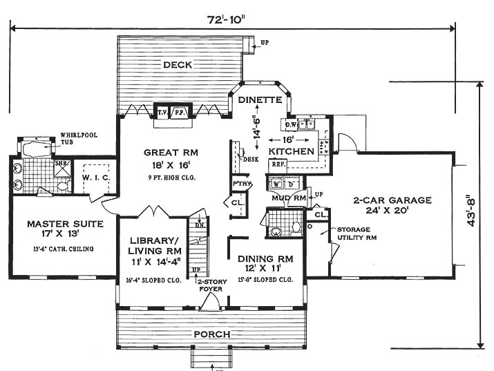 Southern colonial 6990 3 bedrooms and 2 baths the for Colonial home floor plans