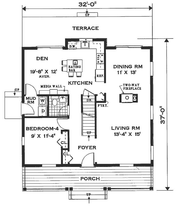 Hyde park 6996 4 bedrooms and 2 baths the house designers for Hyde homes floor plans