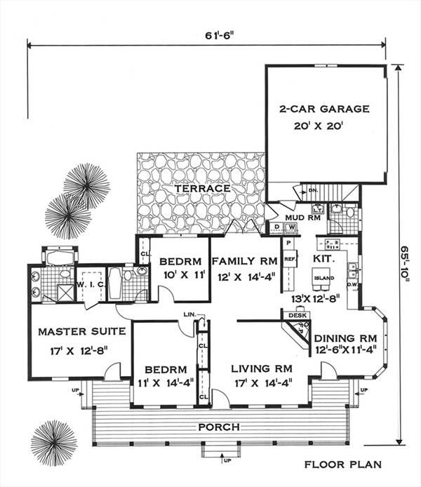 Wonderful Split House Plans Amusing Split House Plans: 5632 - 3 Bedrooms And 2 Baths