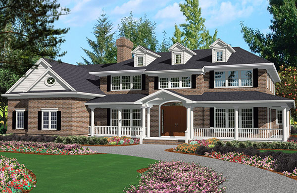 Grand Colonial 3100 5 Bedrooms And 4 Baths The House Designers