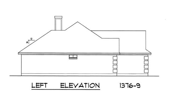 Left Elevation Plan : The beautiful windows bedrooms and baths