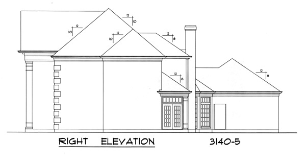 First Floor Elevation Definition : The colonnade bedrooms and baths house