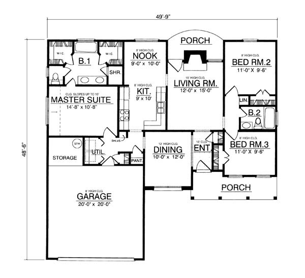 The traditional 7944 3 bedrooms and 2 5 baths the for Copying house plans