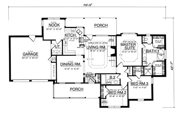 Rustic Stone House Floor Plans