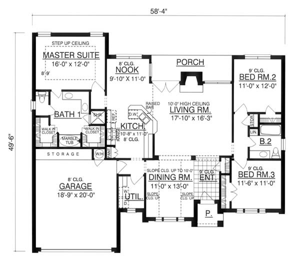 The paladian 7954 3 bedrooms and 2 5 baths the house for Copying house plans