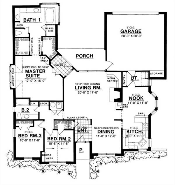 The three arches 7957 3 bedrooms and 2 5 baths the for Copying house plans