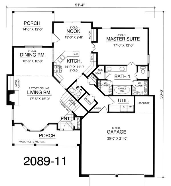 Rustic House Plans, Affordable House Plans, Cottage Home Plans