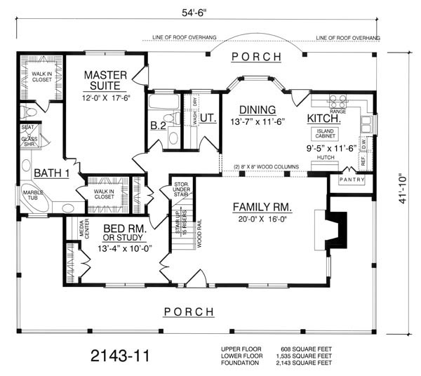 The Western 7961 - 4 Bedrooms and 3.5 Baths | The House Designers