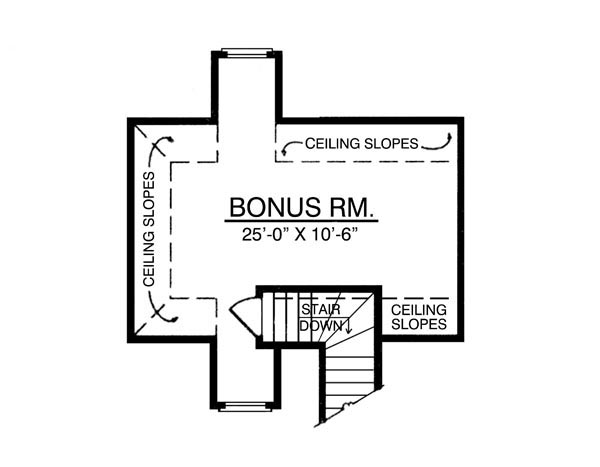 Bonus Room image of The Beautiful House Plan