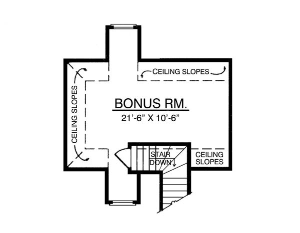 Bonus Room image of The Elegant House Plan