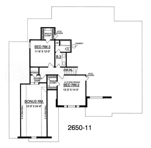 Second Floor image of The Romantic House Plan