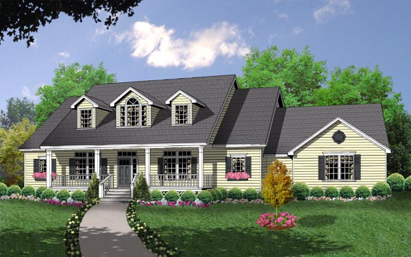 The Country Kitchen House Plan 8205 - 3 Bedrooms and 2.5 Baths