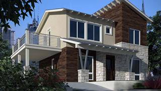 image of the kristin house plan - Contemporary Modern Home