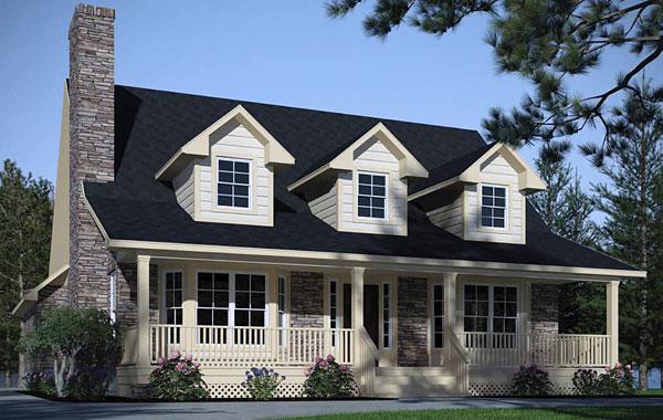 The woodville 3083 3 bedrooms and 2 5 baths the house for Fachadas de casas modernas tipo americano