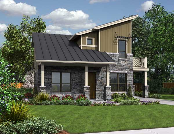 Green Contemporary Style House Plan 3075: The Greenview