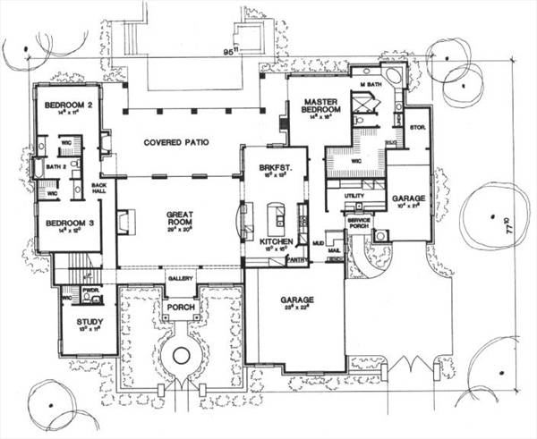 First Floor Plan image of The Piacenza House Plan