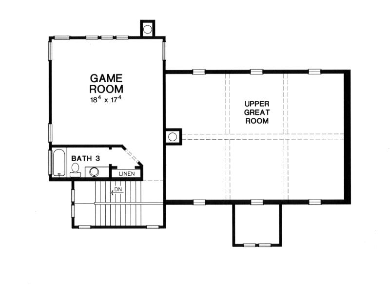 Second Floor Plan image of The Piacenza House Plan