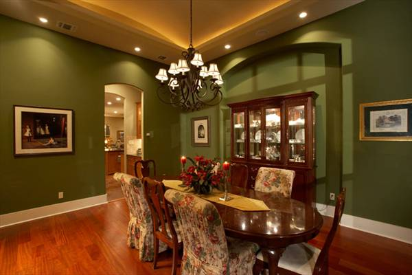 The siena 7228 4 bedrooms and 4 baths the house designers for Small formal dining room decorating ideas