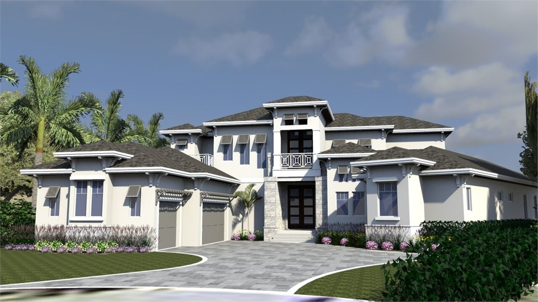 This Luxury 2 Story Florida House Plan 1769 Features 6,000 S.f. Of  Exceptional Living, Including A Beautiful Covered Lanai With Pool And Spa.