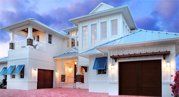 luxury 2 story beach house plan rh thehousedesigners com
