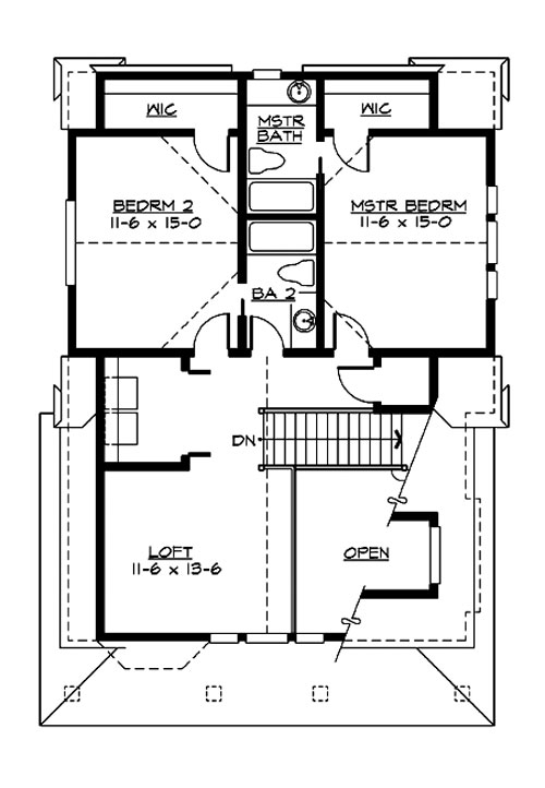 Red alder 3206 2 bedrooms and 2 5 baths the house for Commercial garage plans