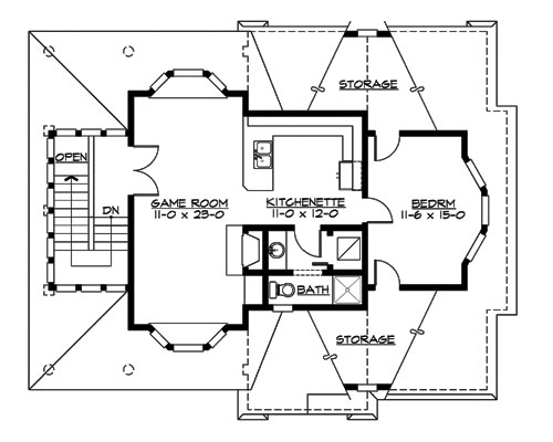 Upper Floor image of Astoria Cottage House Plan