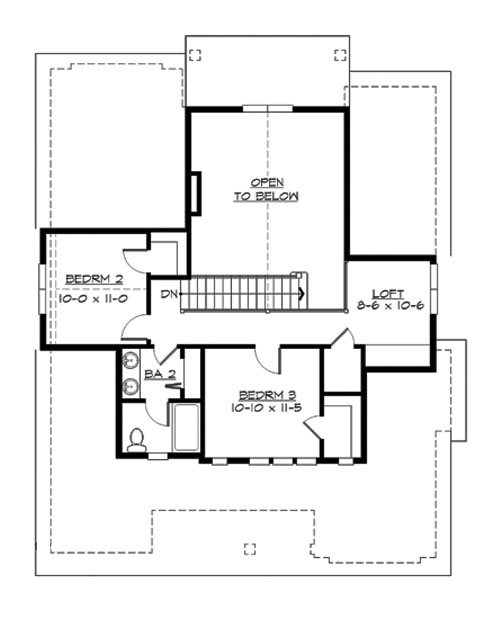 Upper Floor image of Faulkner House Plan