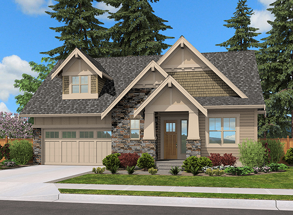 Craftsman house plan, small house plan