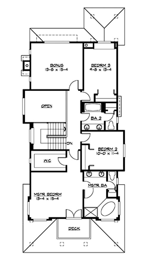 3 bedroom home plans designs. Upper Floor Ferndale 3211  3 Bedrooms and 2 Baths The House Designers