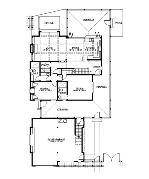 House Plan of the Week Narrow Lot Beach Home The House Designers