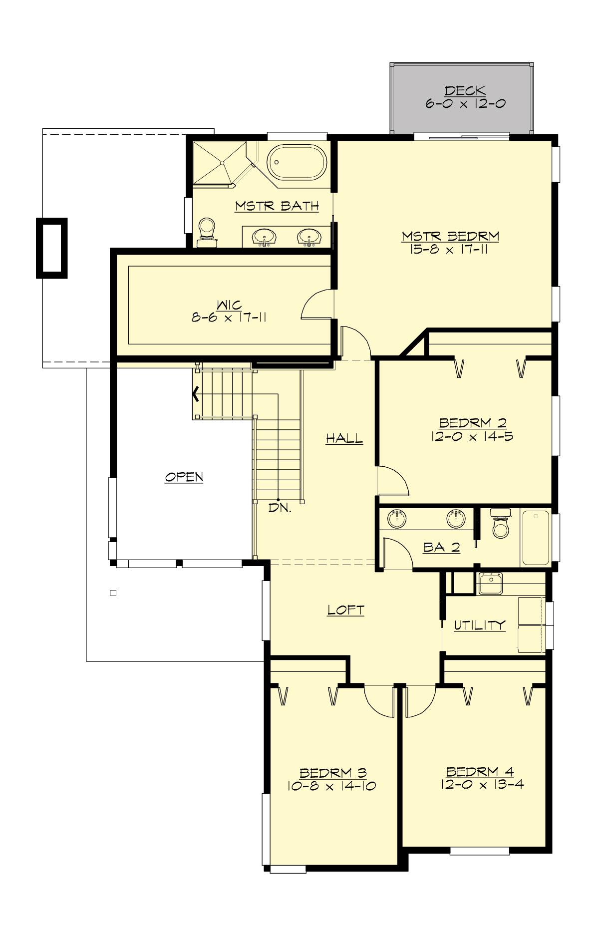 Swallowtail 5540 5 bedrooms and 3 5 baths the house for Planos de casas con medidas
