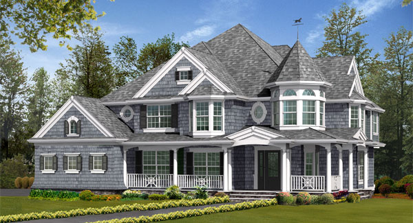 Luxurious victorian home for House turret designs