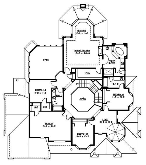Victoria   Bedrooms and Baths   The House DesignersUpper Floor