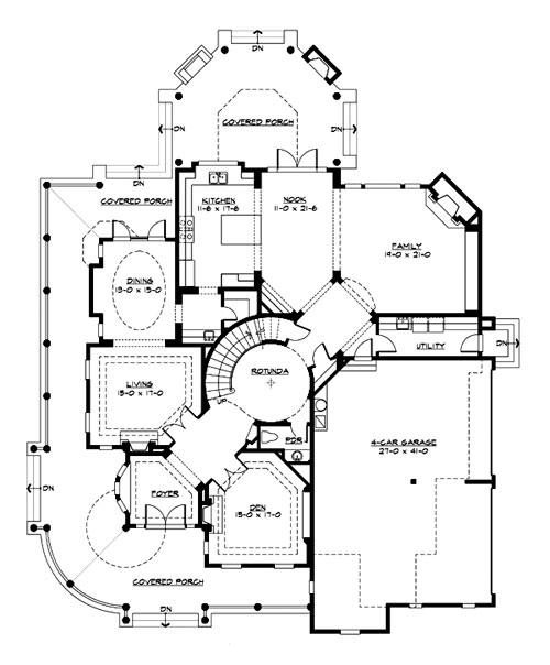 Astoria 3230 4 bedrooms and 4 baths the house designers for Home plans pictures