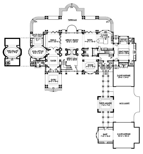 Main Floor image of The Retreat at Waters Edge House Plan