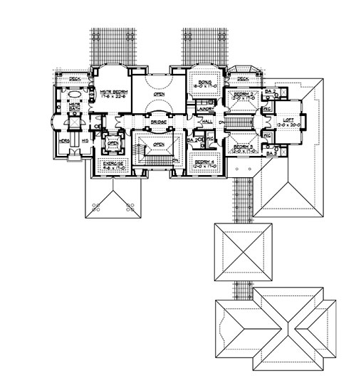 Upper Floor image of The Retreat at Waters Edge House Plan