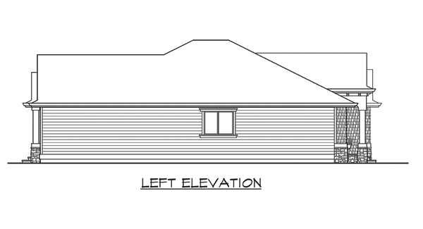 Left Elevation Plan : Gallatin bedrooms and baths the house designers