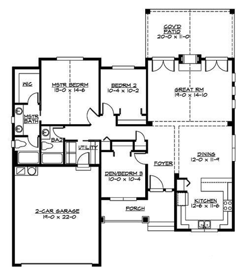 Main Floor image of Oakley Plan