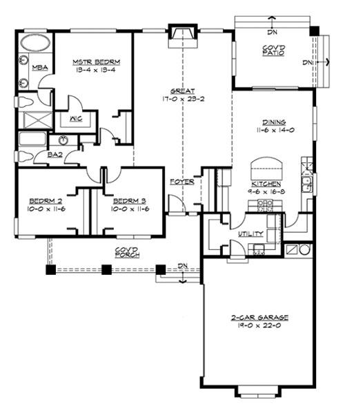 Hayden 3243 3 bedrooms and 2 5 baths the house designers for Hayden homes floor plans