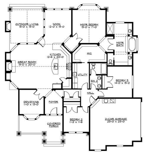 Marymoor 3245 3 Bedrooms and 25 Baths The House Designers