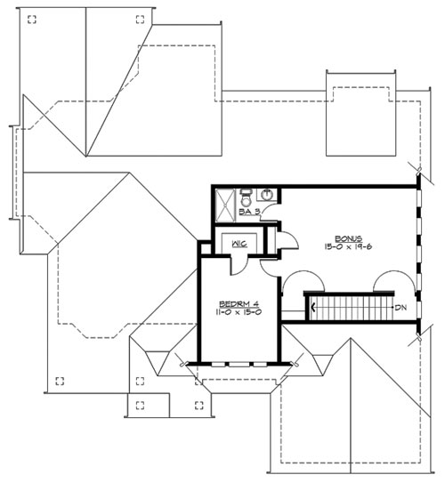 Brownstone 3247 4 bedrooms and 3 5 baths the house for Brownstone plans