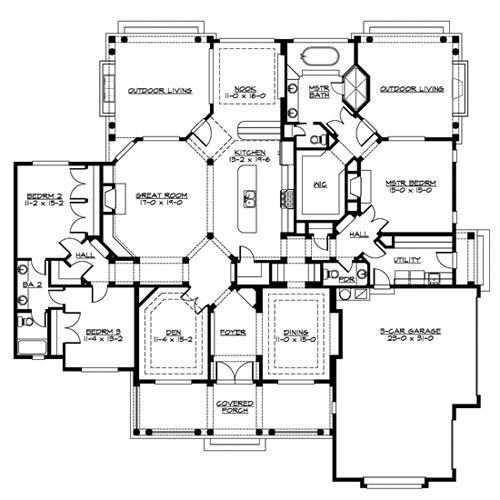 Plan palladian house plan 3251 the house designers llc for Palladian house plans